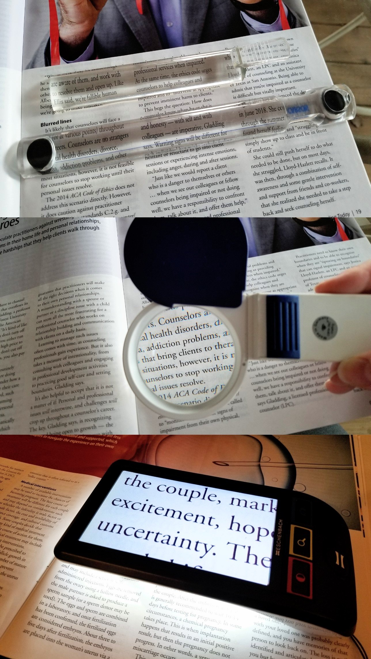 Collage of Magnifiers