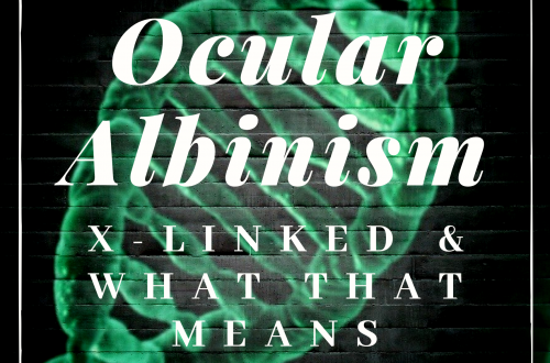 Ocular Albinism featured image with a green DNA strand behind it