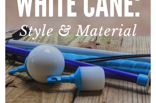 Choosing a white cane: Texture and material featured image